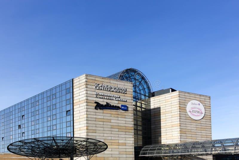 Scandinavian congress center in Aarhus, Denmark. Aarhus, Denmark - November 8, 2015: Scandinavian congress center in Aarhus, is the largest hotel and conference stock photo