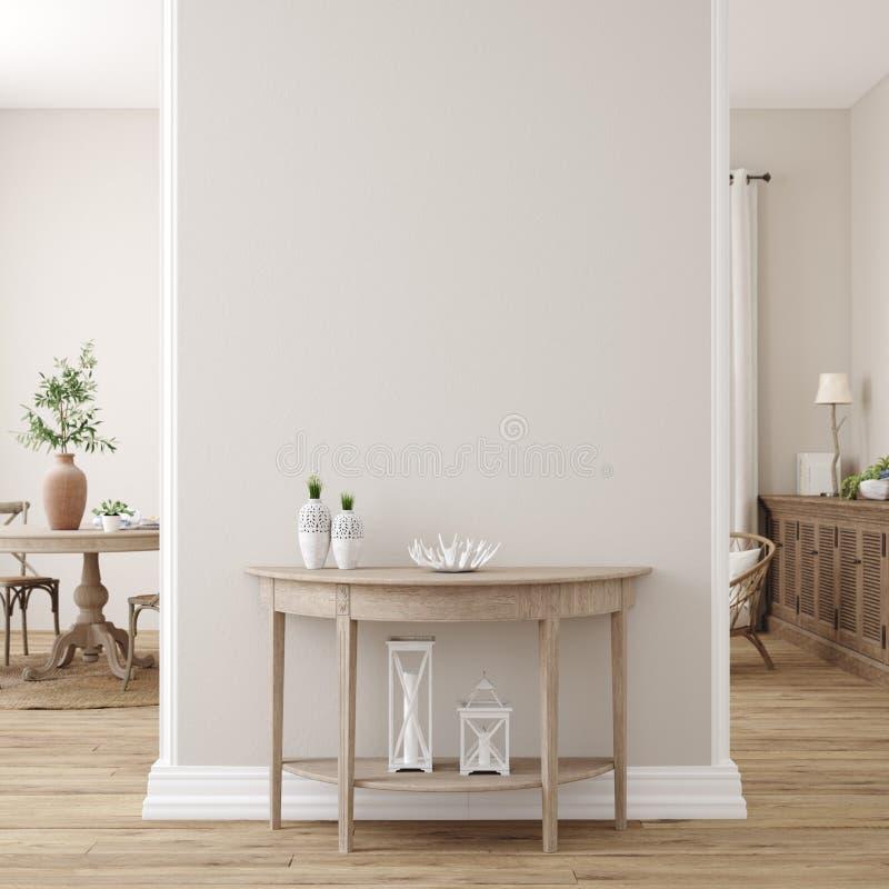 Free Scandinavian Farmhouse Living Room Interior, Wall Mockup Stock Photos - 189995873