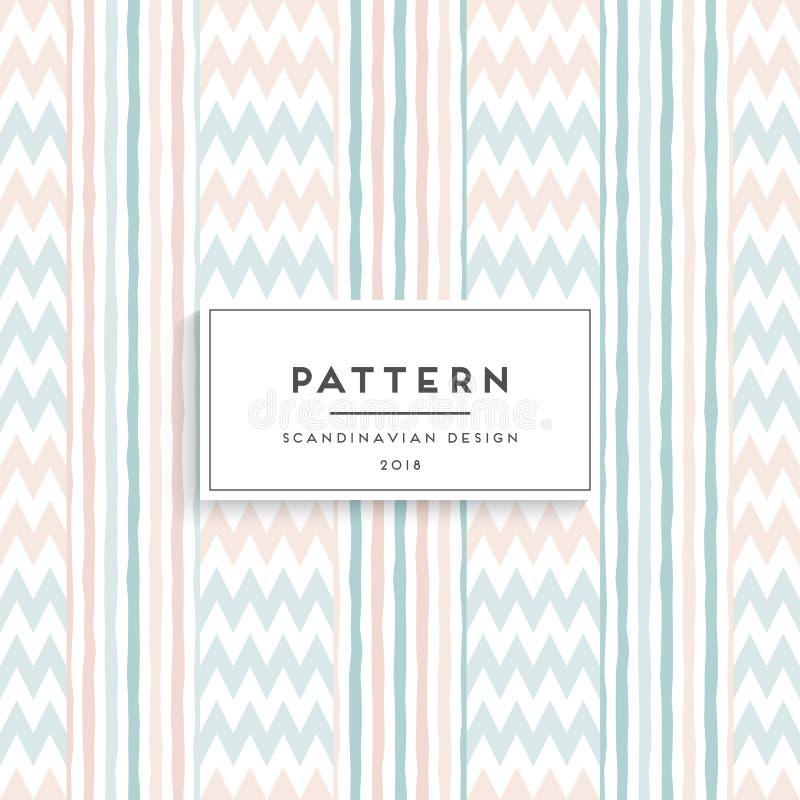Scandinavian floral seamless pattern royalty free illustration