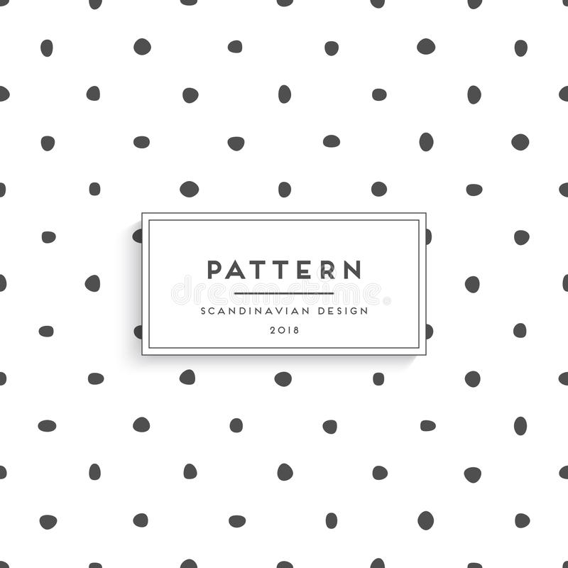 Scandinavian floral seamless pattern stock illustration