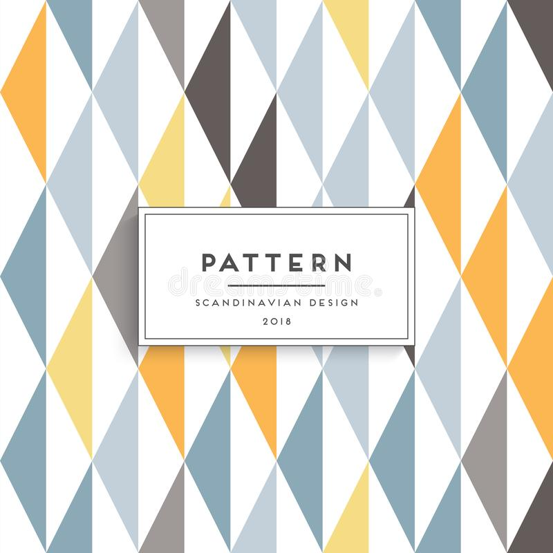 Scandinavian floral seamless pattern stock illustration