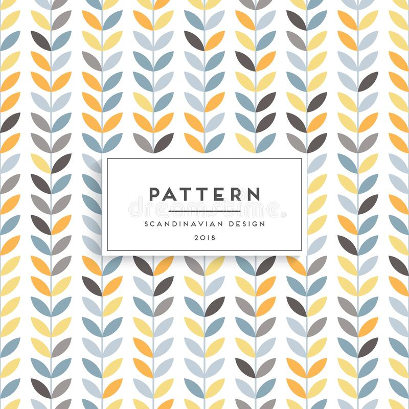 Scandinavian floral seamless pattern royalty free illustration