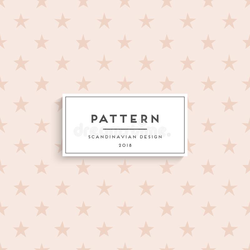 Scandinavian floral seamless pattern vector illustration