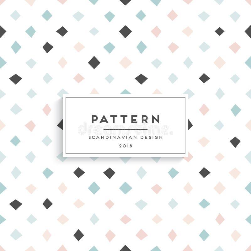Scandinavian floral seamless pattern vector illustration