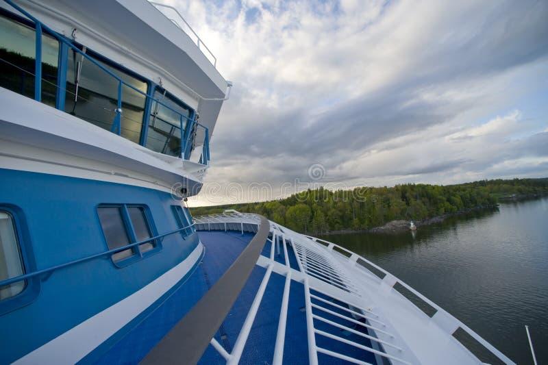 scandinavian havssikt royaltyfria foton