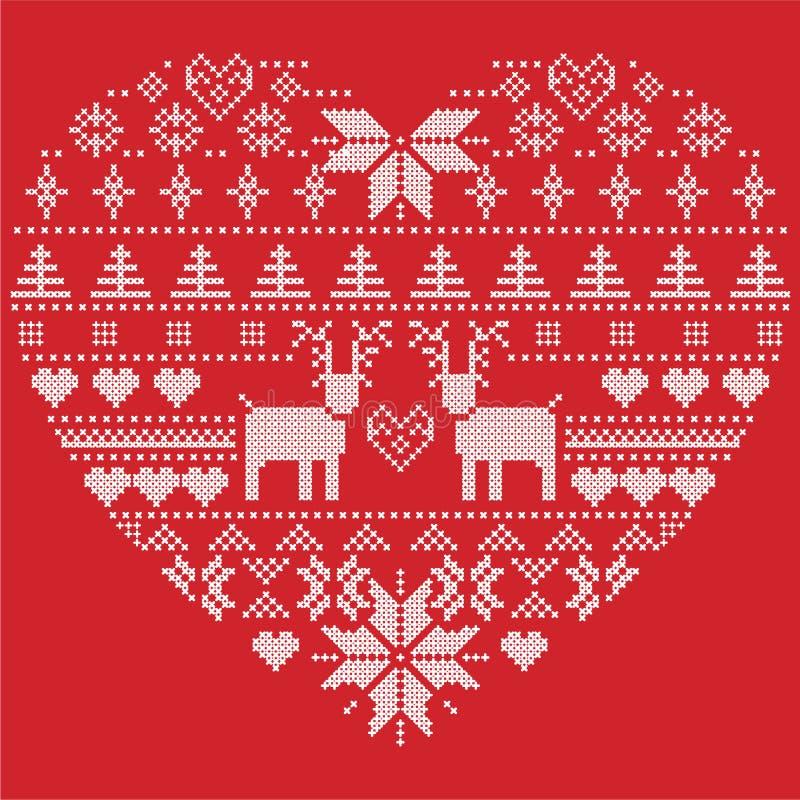 Scandinavian Nordic Winter Stitch, Knitting Christmas Pattern In In ...