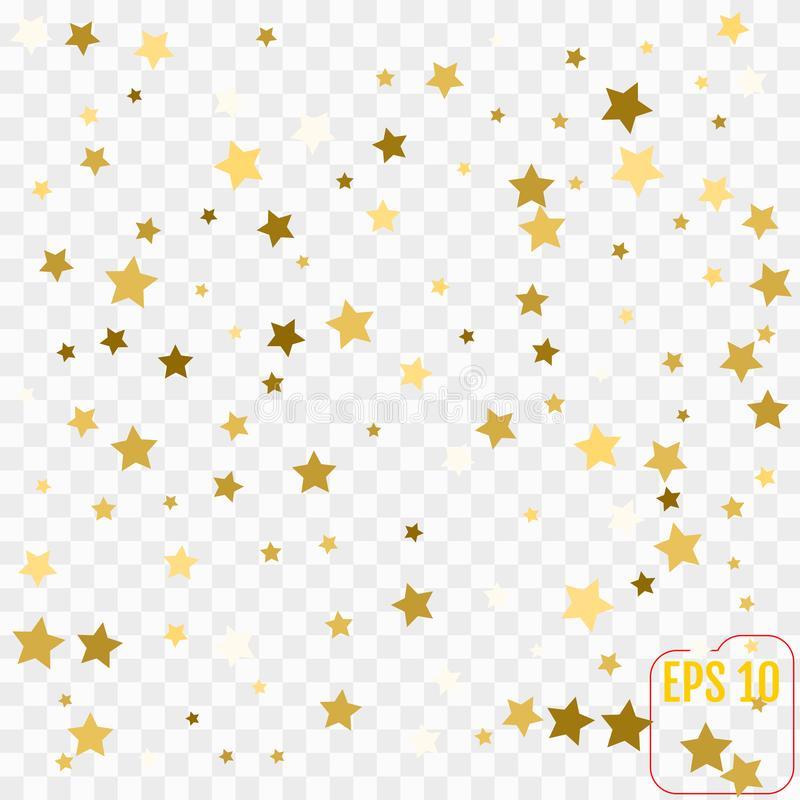 Scandinavian pattern with gold stars. Stock vector. vector illustration