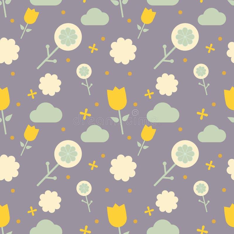 Scandinavian pattern for kids stock illustration