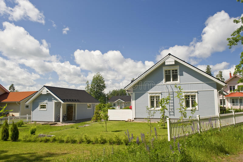 Scandinavian private house stock photos
