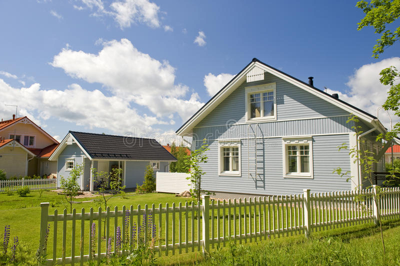 Scandinavian private house royalty free stock photography