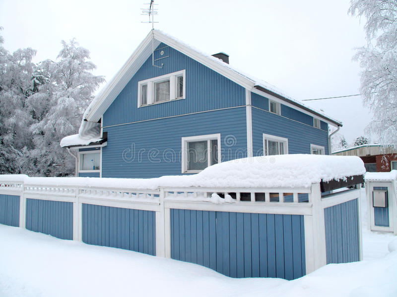 Scandinavian private house royalty free stock images