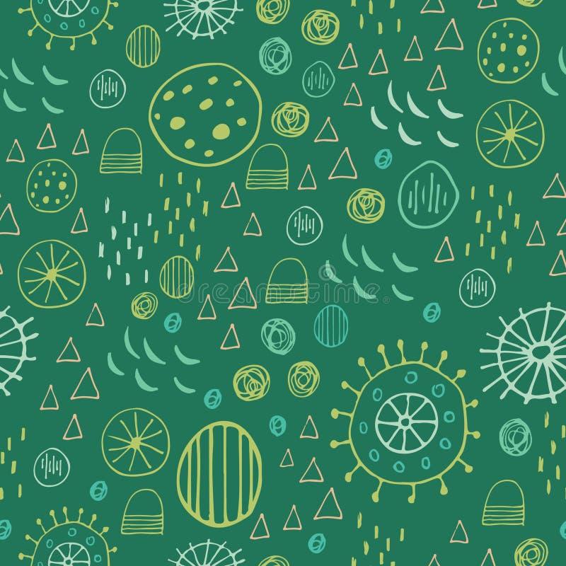 Scandinavian style abstract seamless pattern. Happy holidays stock illustration
