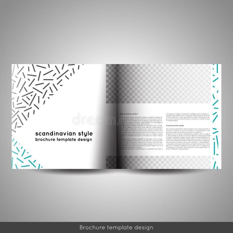 Scandinavian Style Business Or Educational Template Bi Fold Square