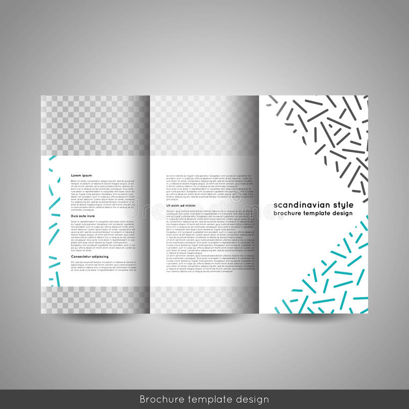 Scandinavian Style Business Or Educational Template Tri Fold