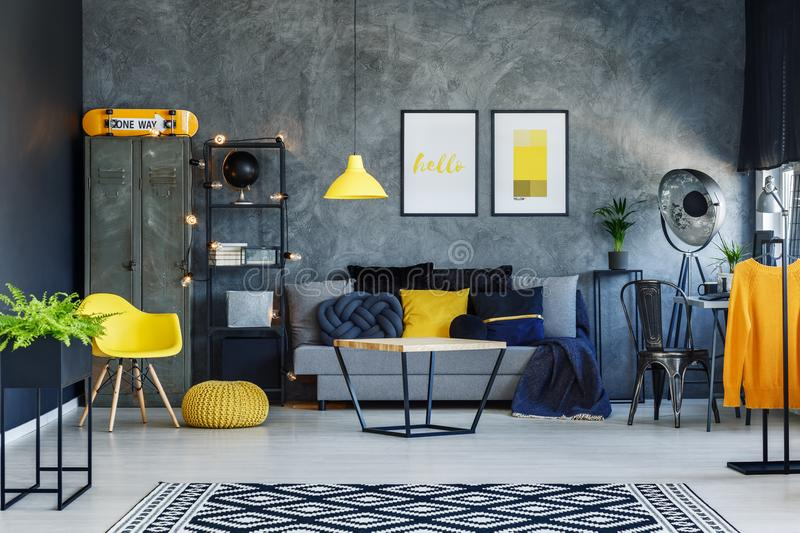 Download Scandinavian Style Living Room Stock Photo   Image Of Carpet,  Pillow: 100831028