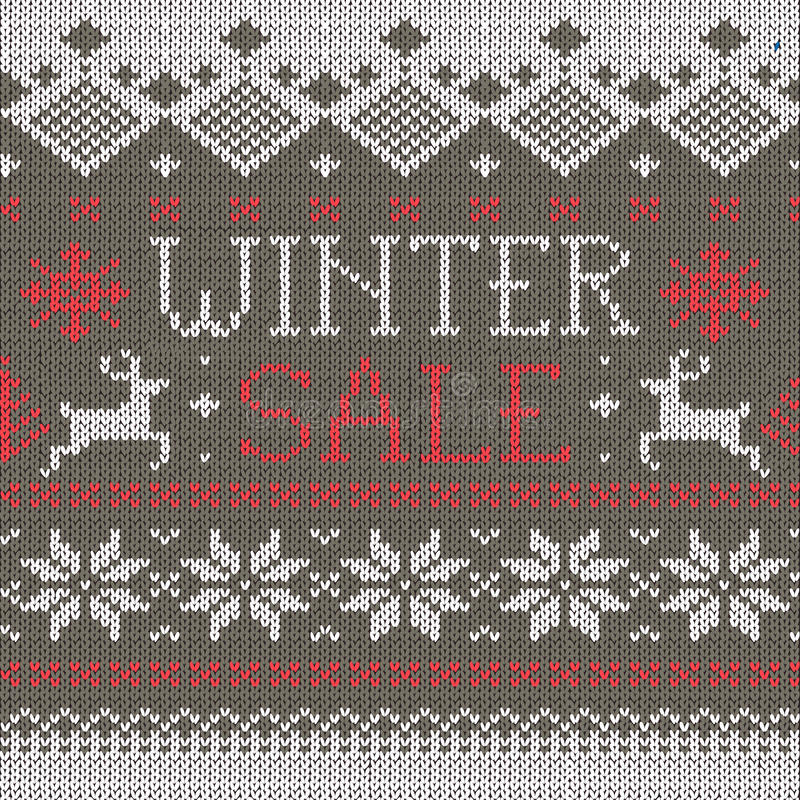 Download Scandinavian Style Seamless Knitted Pattern Stock Vector - Image: 23254242