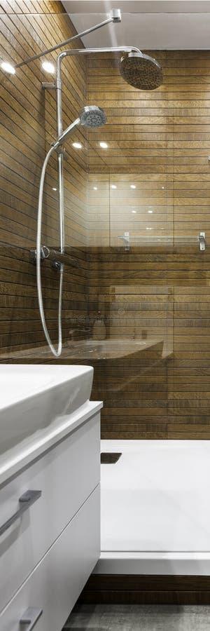 Scandinavian style shower stock photos