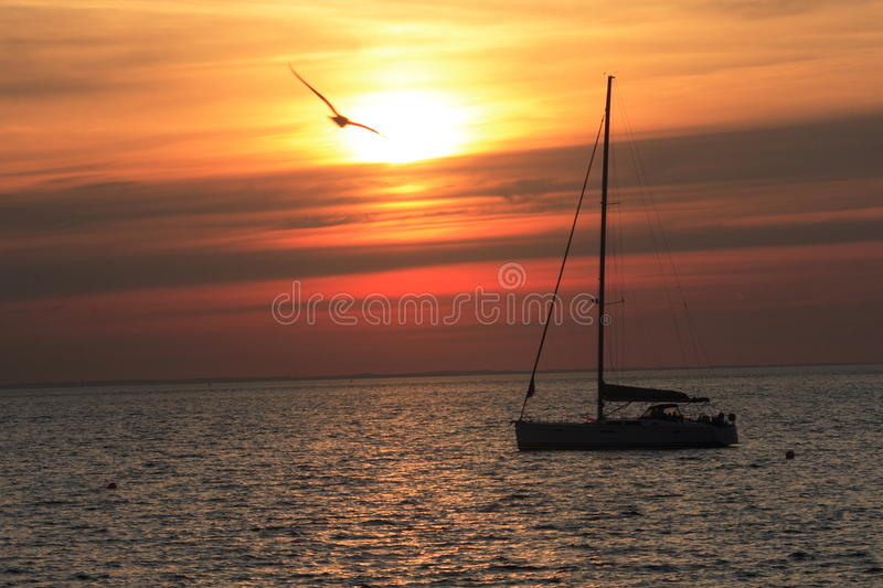 Scandinavian Sunset stock photography