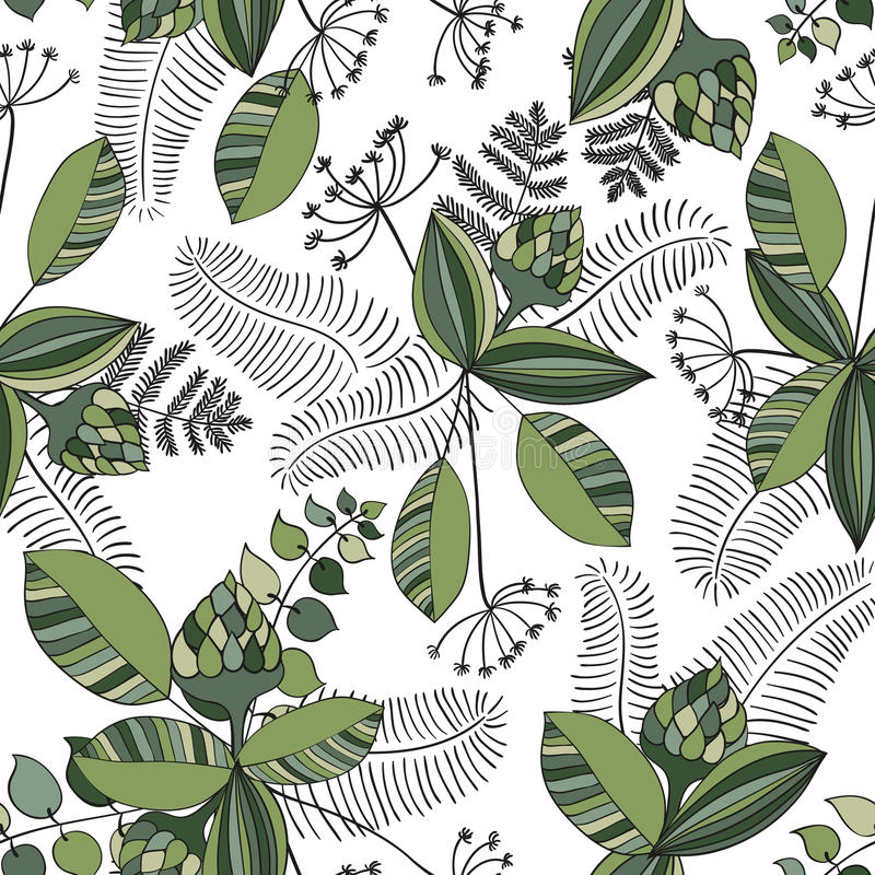 Scandinavian Vector Floral Pattern stock illustration