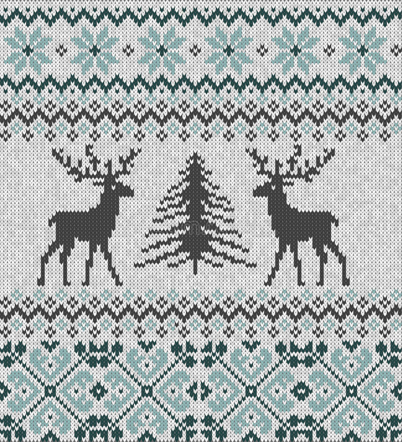Free Scandinavian Winter Ornament. Cristmas Seamless Knitted Pattern. Royalty Free Stock Photography - 96073977