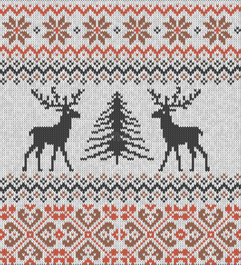 Free Scandinavian Winter Ornament. Cristmas Seamless Knitted Pattern. Royalty Free Stock Photo - 96074025