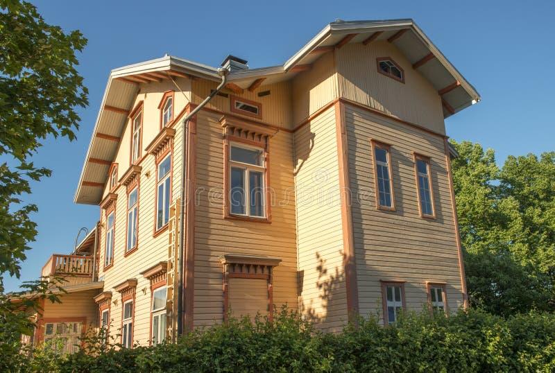 Scandinavian wooden house stock image