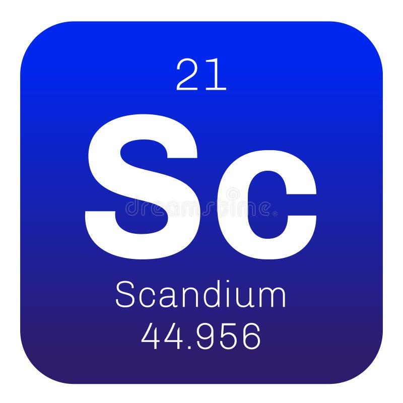 Scandium chemisch element vector illustratie