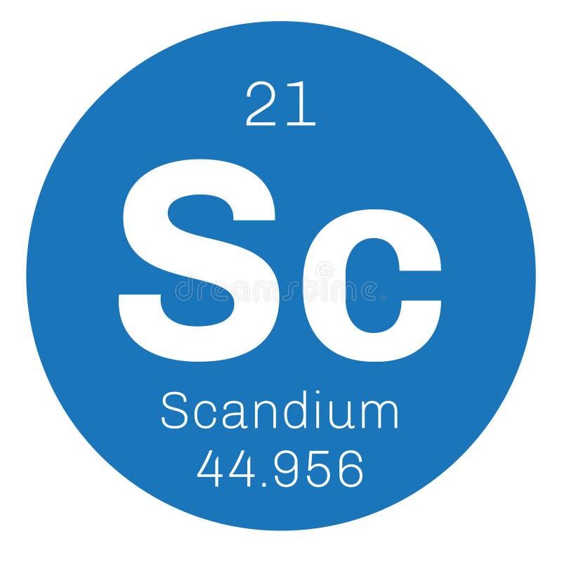 Scandium chemisch element royalty-vrije illustratie