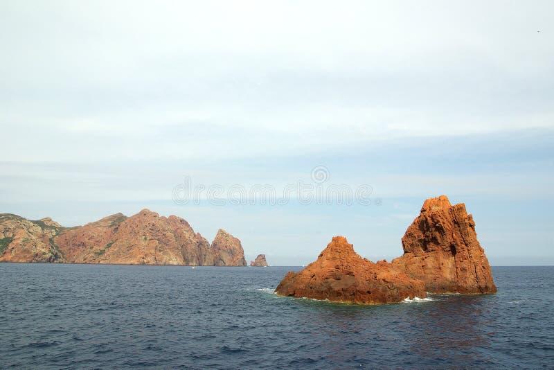 scandola de réserve de la Corse France photographie stock libre de droits