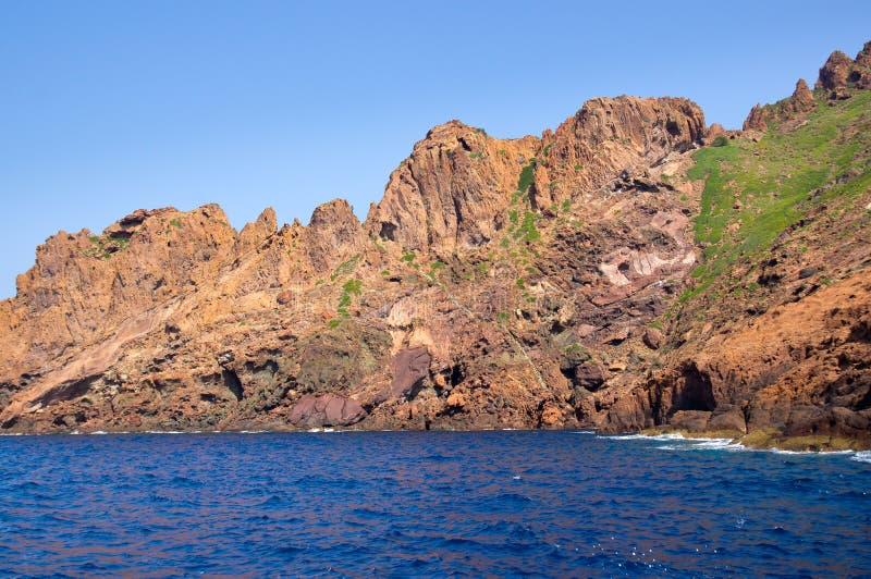 Scandolanatuurreservaat, Unesco-de plaats van de Werelderfenis, Corsica, Fr royalty-vrije stock afbeelding