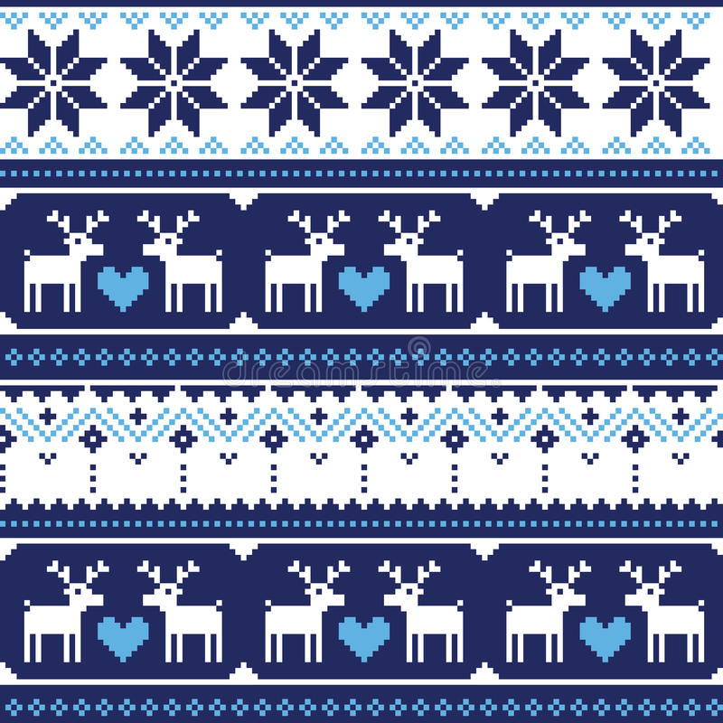 Download Scandynavian Knitted Seamless Pattern With Deer Royalty Free Stock Image - Image: 34246646