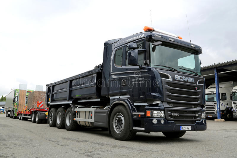 Super Scania R580 Euro 6 V8 Construction Truck Editorial Image - Image  UY99