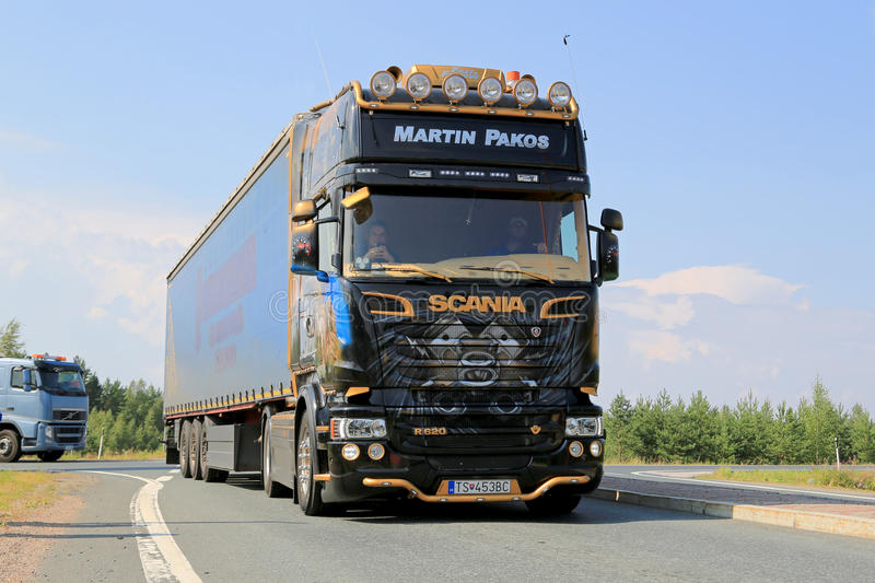 Beautiful Scania R620 V8 Of Martin Pakos Editorial Image - Image of finland  MZ77