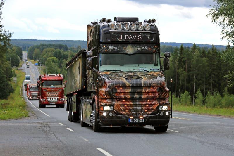 Scania T580 J Davis Resident Evil on the Road royalty free stock image