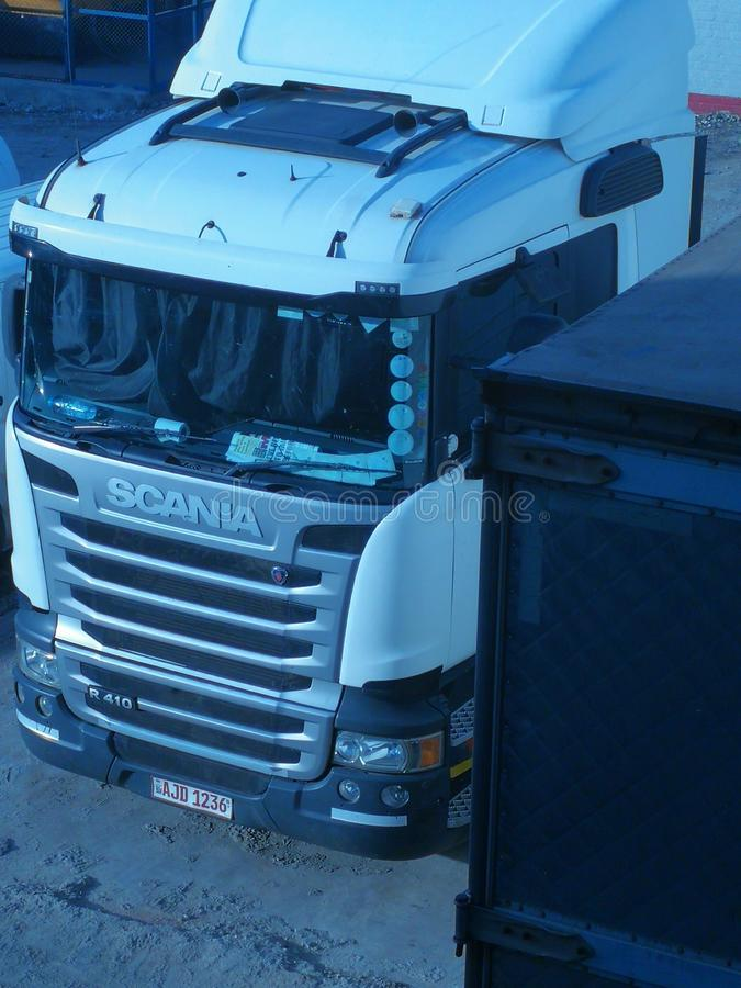 Scania truck amazing looking stock image