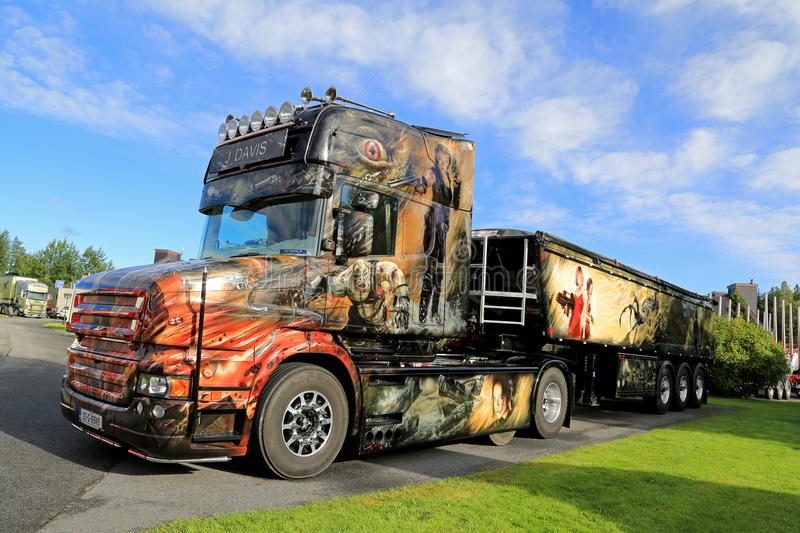 Scania Truck T580 Resident Evil on Display royalty free stock photos