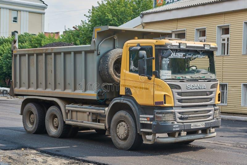Scania-vrachtwagen royalty-vrije stock afbeeldingen