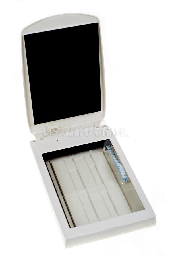 Scanner. Professional SCSI scanner on white background stock photos