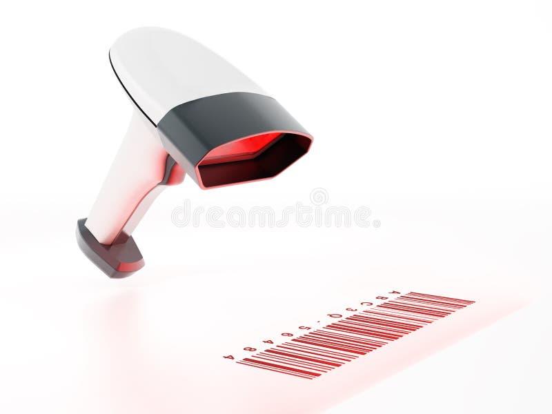 Scanner générique de code barres analysant code barres illustration 3D illustration de vecteur