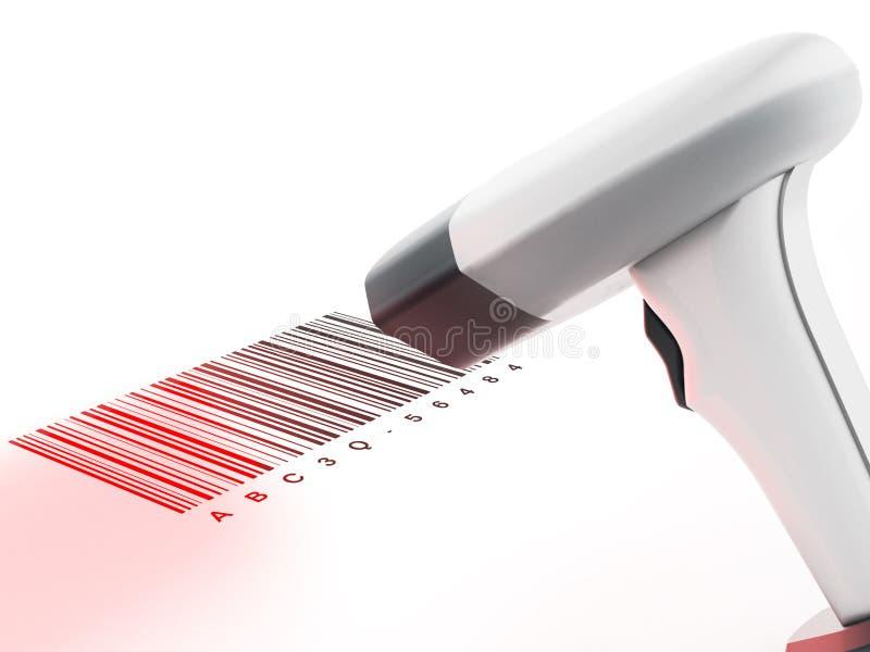 Scanner générique de code barres analysant code barres illustration 3D illustration libre de droits