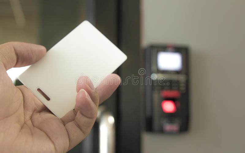 Scanner glass by card royalty free stock photo