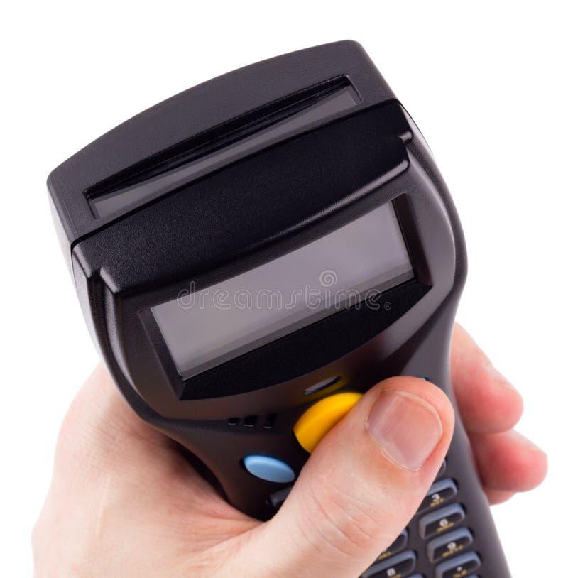 Scanner manuale elettronico dei codici a barre fotografia stock