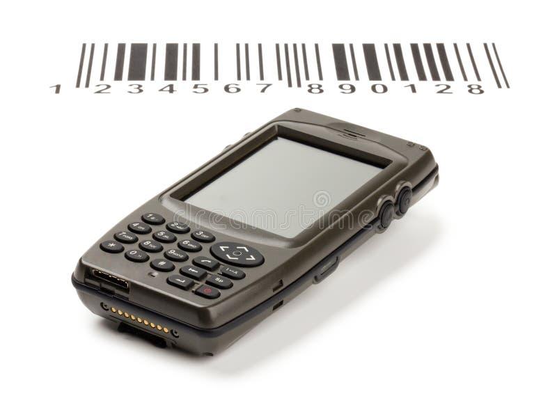 Scanner manuale elettronico del calcolatore dei codici a barre fotografia stock libera da diritti
