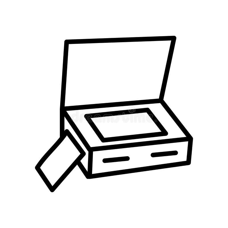 Scanner mit Abdeckungsikonenvektor lokalisiert auf weißem Hintergrund, Sca stock abbildung