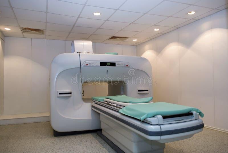 Scanner, MRI Magnetic resonance imaging 1. Scanner, Magnetic resonance imaging (MRI) in hospital room royalty free stock images