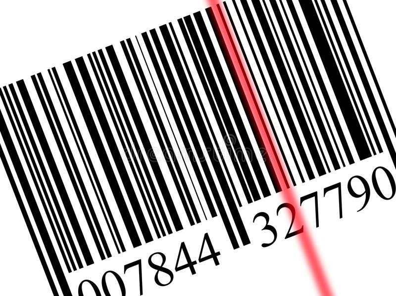 Download Scanning a bar code stock illustration. Image of market - 10399092