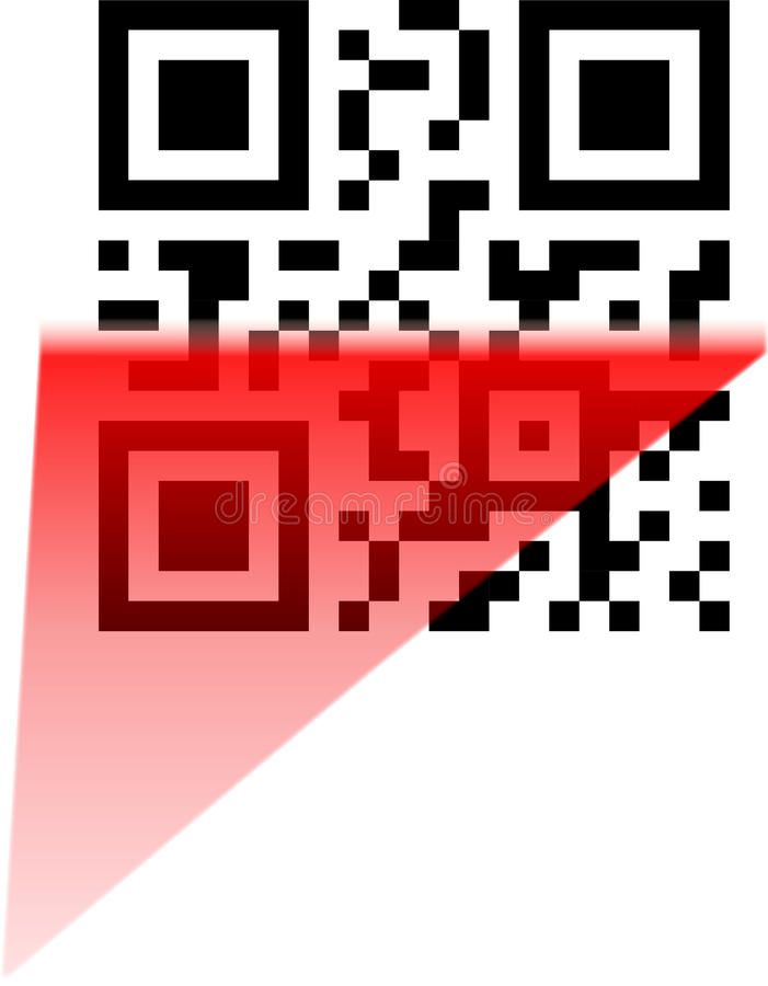 Download Scanning Of Qr And Bbm Code Stock Vector - Illustration: 19490084