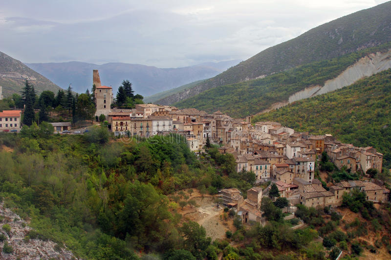 Scanno, Italie images stock