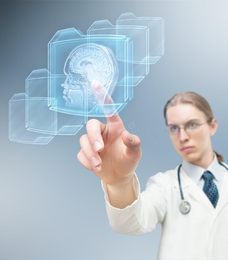 Scansione del cervello immagini stock libere da diritti