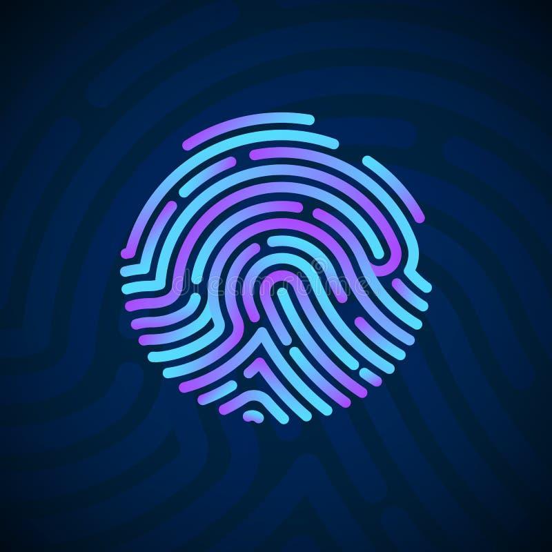 Scansione Del Dito Per La Sicurezza Informatica Sistema Di ...